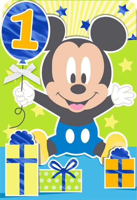 Disney mickey mouse how do you do it 1st birthday card greeting disney mickey mouse how do you do it 1st birthday card m4hsunfo