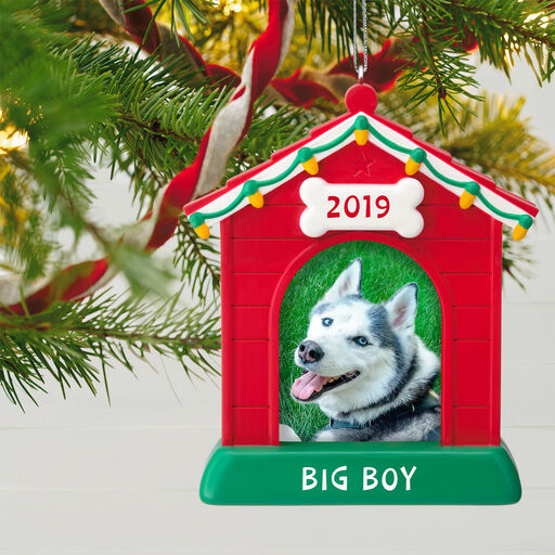 95ae89f87f28 ... Yule Dog Doghouse Photo Frame Personalized Ornament,