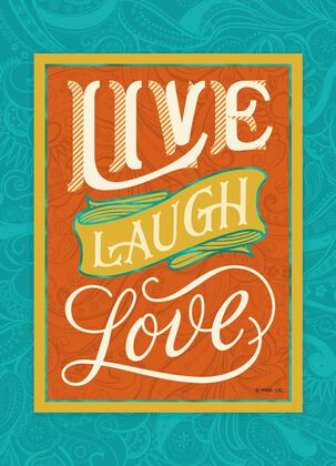 Live Laugh Love Friendship Card With Magnet