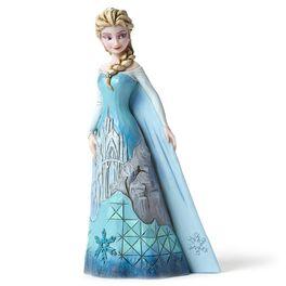 Jim Shore Disney Queen Elsa with Ice Castle Dress Figurine, , large
