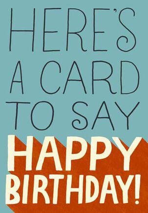 No Pants Funny Birthday Card
