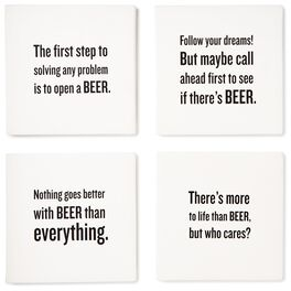 Beer Wisdom Coasters, Set of 4, , large