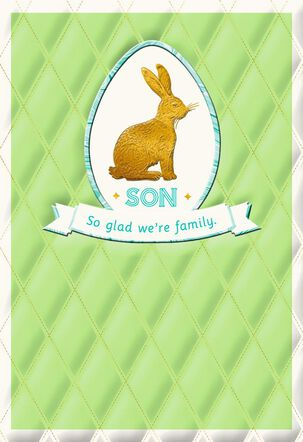 Son Gold Bunny Easter Card