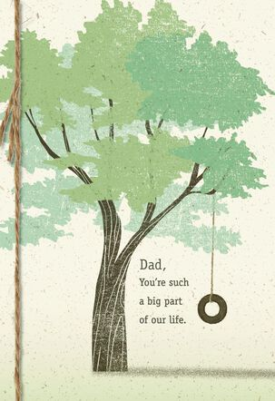 Tree With Tire Swing Father's Day Card From Family