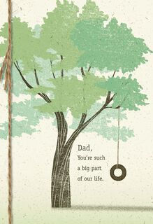 Tree With Tire Swing Father's Day Card From Family,