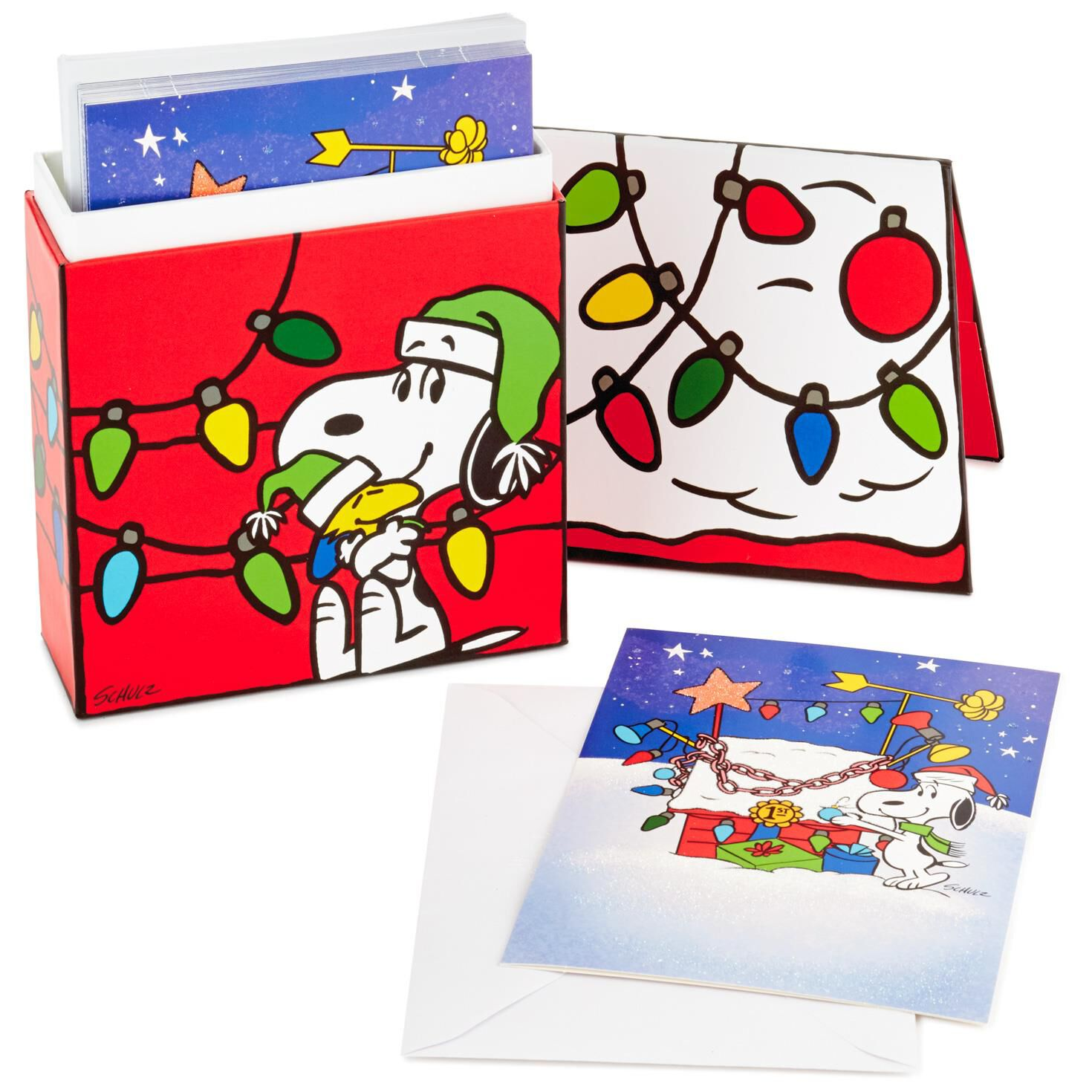 Peanuts® Snoopy and Woodstock Christmas Cards, Box of 16 - Boxed ...