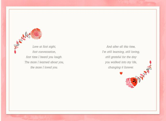 Love at First Everything Romantic Valentines Day Card Greeting – First Valentines Day Card