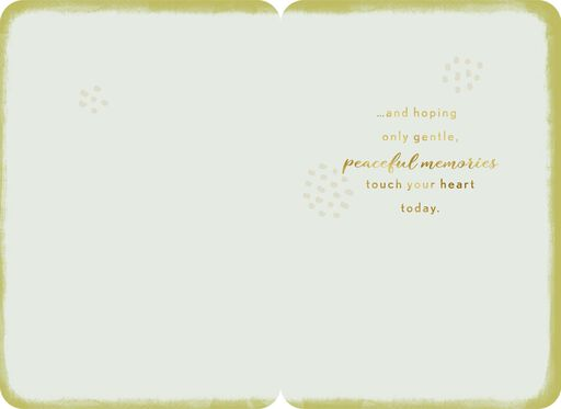 Peaceful Memories Today Thinking of You Card,
