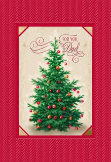 Beautiful Tree Christmas Card for Dad,