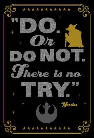 Star Wars™ Yoda™ Do. Or Do Not. Graduation Card