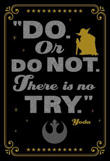 Star Wars™ Yoda™ Do. Or Do Not. Graduation Card,