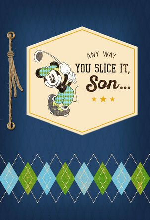 Disney Mickey Mouse Golfing Birthday Card for Son