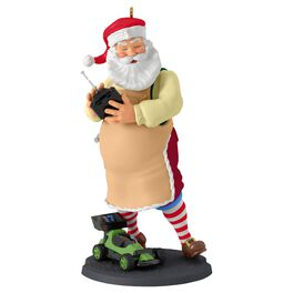 Toymaker Santa Radio Controlled Car Ornament, , large