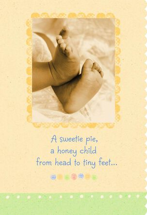 Sweetie Pie, Honey Child New Baby Congratulations Card