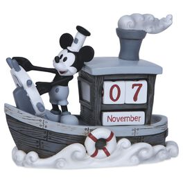 Precious Moments® Mickey Mouse and Steamboat Willie Perpetual Calendar, , large