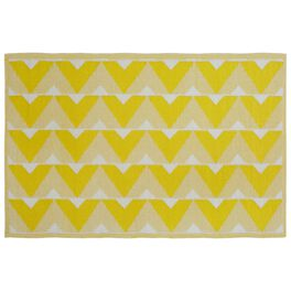 Yellow and Gray Indoor/Outdoor Reversible Rug, 4x6, , large