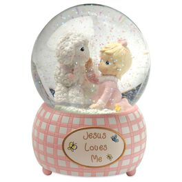 Precious Moments® Jesus Loves Me Musical Water Globe for Girl, , large