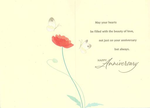 Couple of Poppies Anniversary Card,
