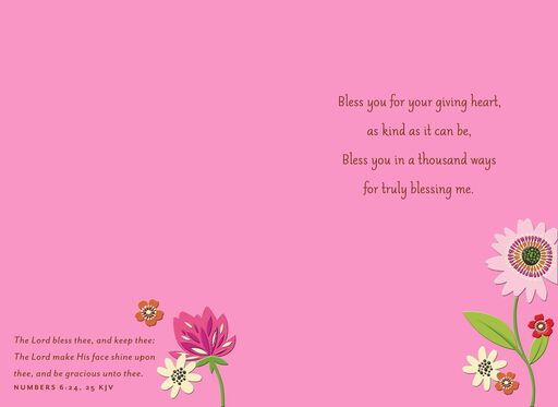 Bless You Religious Thank You Card,
