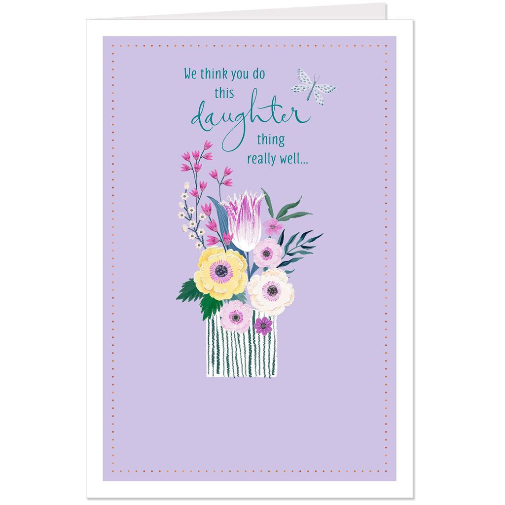 Were Grateful And Proud Birthday Card For Daughter