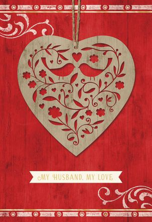 Ornamental Heart Valentine's Day Card for Husband