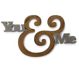 "Letter2Word ""You & Me"" Sign, , large"