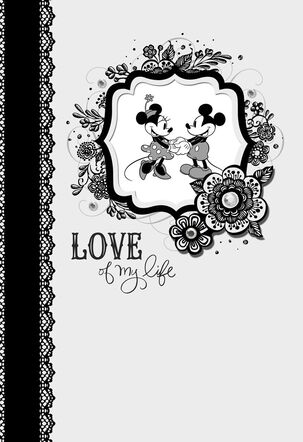Love of My Life Mickey and Minnie Anniversary Card