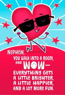 Awesome Effect Valentine's Day Card for Nephew,