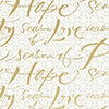 Peace, Hope, Love Metallic Ink Christmas Wrapping Paper Roll, 45 sq. ft., Peace, Hope, Love