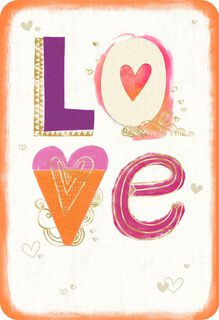 Colorful Letters Love Card,