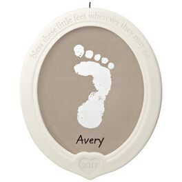 Little Feet, Big Blessing Baby's Footprint Porcelain Ornament Kit, , large