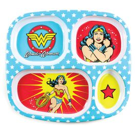 WONDER WOMAN™ Divided Plate by Bumkins, , large