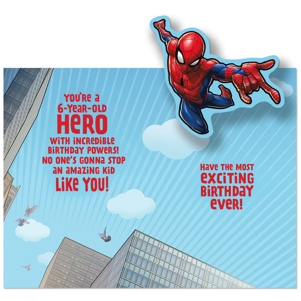 Spider Man Amazing Hero 6th Birthday Pop Up Card