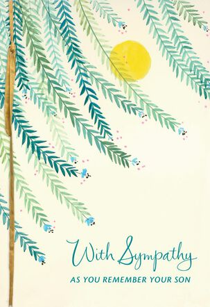 Remembering Your Son Sympathy Card