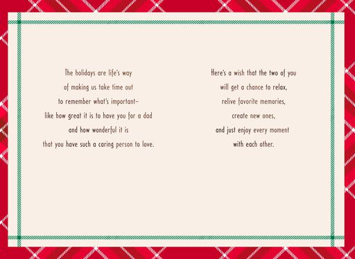 For a Great Dad and the Man He Loves Christmas Card,