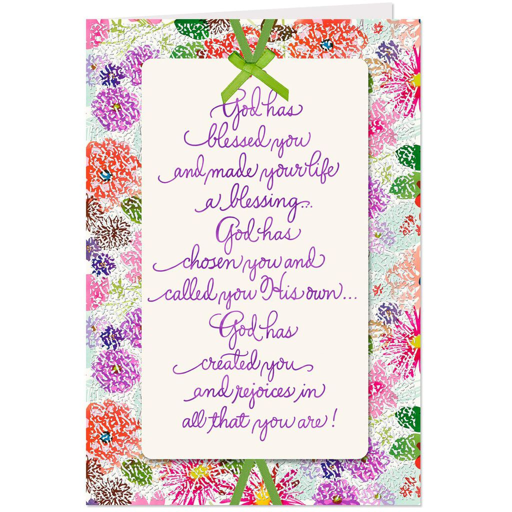 God Rejoices In You Religious Birthday Card