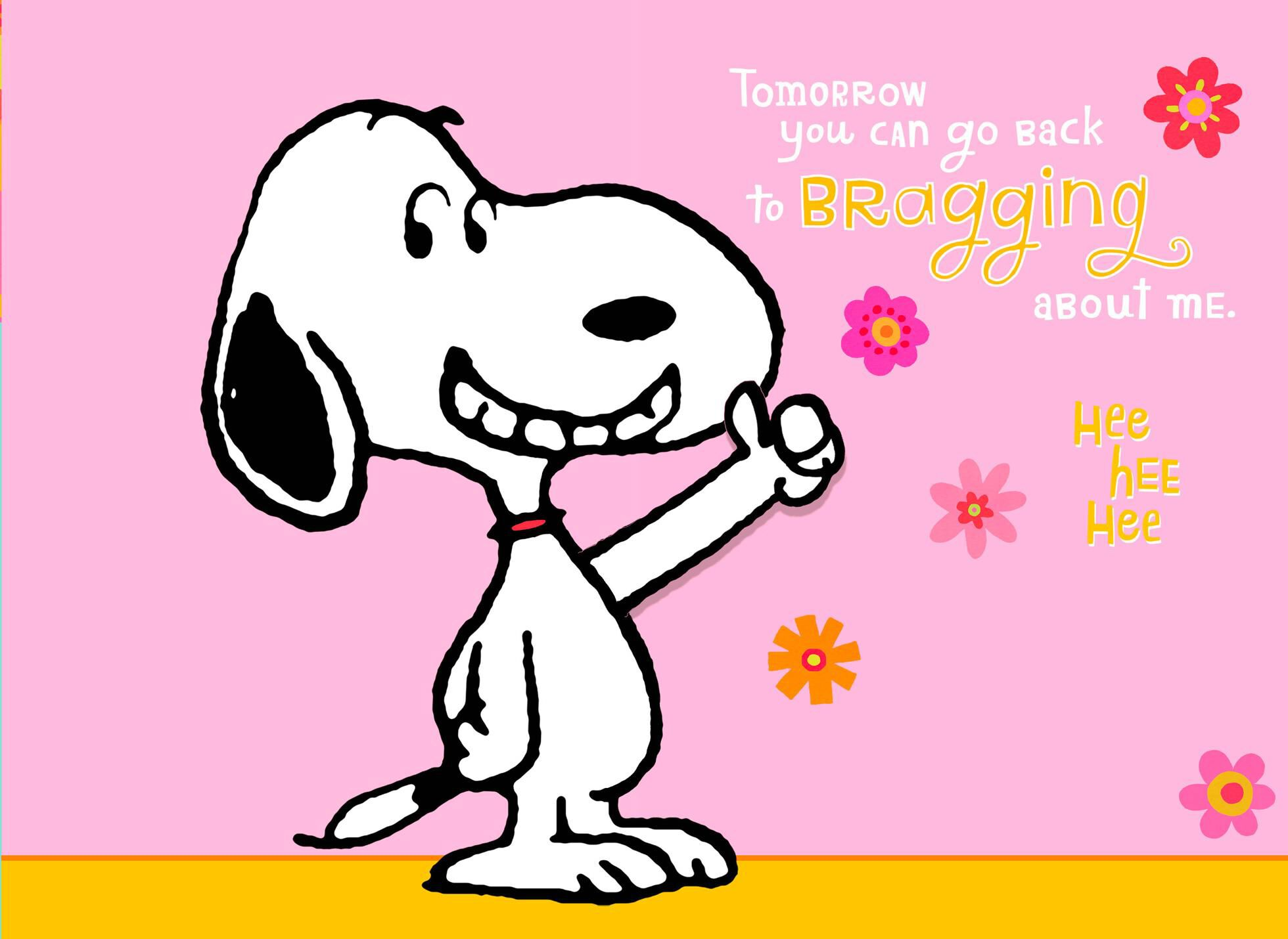 Snoopy Pop Up Card