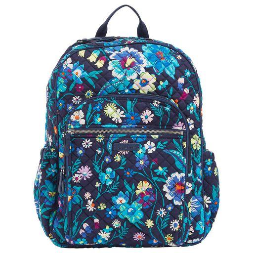 1584d6d16 Vera Bradley Iconic Campus Backpack in Moonlight Garden, ...