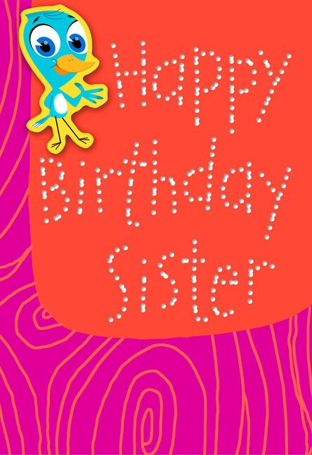 Bird I Pecked This Card For You Funny Birthday Card For Sister
