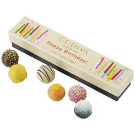 Godiva Chocolatier Happy Birthday Cake Truffle Flight in Box, 6 Pieces, , large