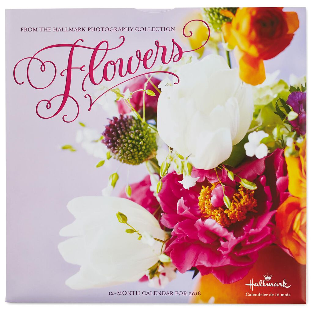 flower bouquets 2018 wall calendar 12 month