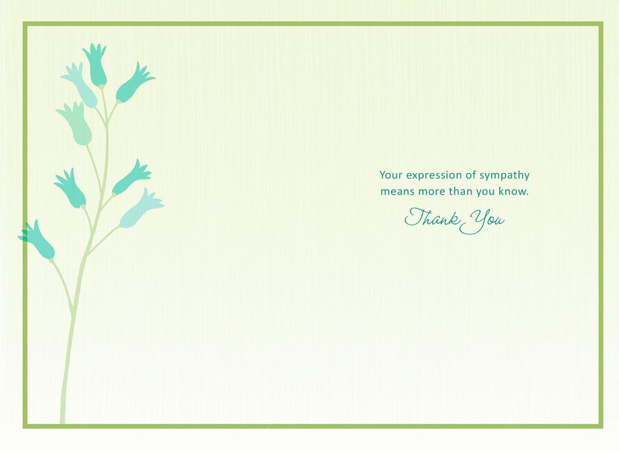 Thank You For Your Sympathy Card Greeting Cards Hallmark