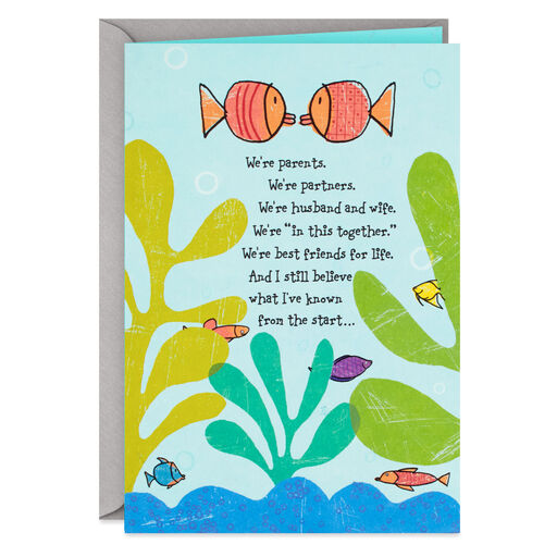Goldfish Couple Fathers Day Card For Husband