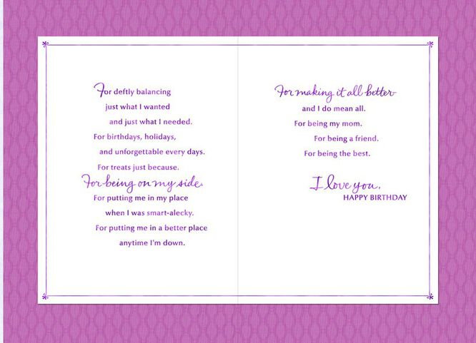 Mom Youre the Best Birthday Card Greeting Cards Hallmark – Hallmark Personalised Birthday Cards