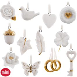 Wedding Wishes Mini Ornaments, Set of 12, , large