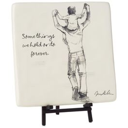 Hold Onto Forever Father and Child Decorative Tile with Easel, , large