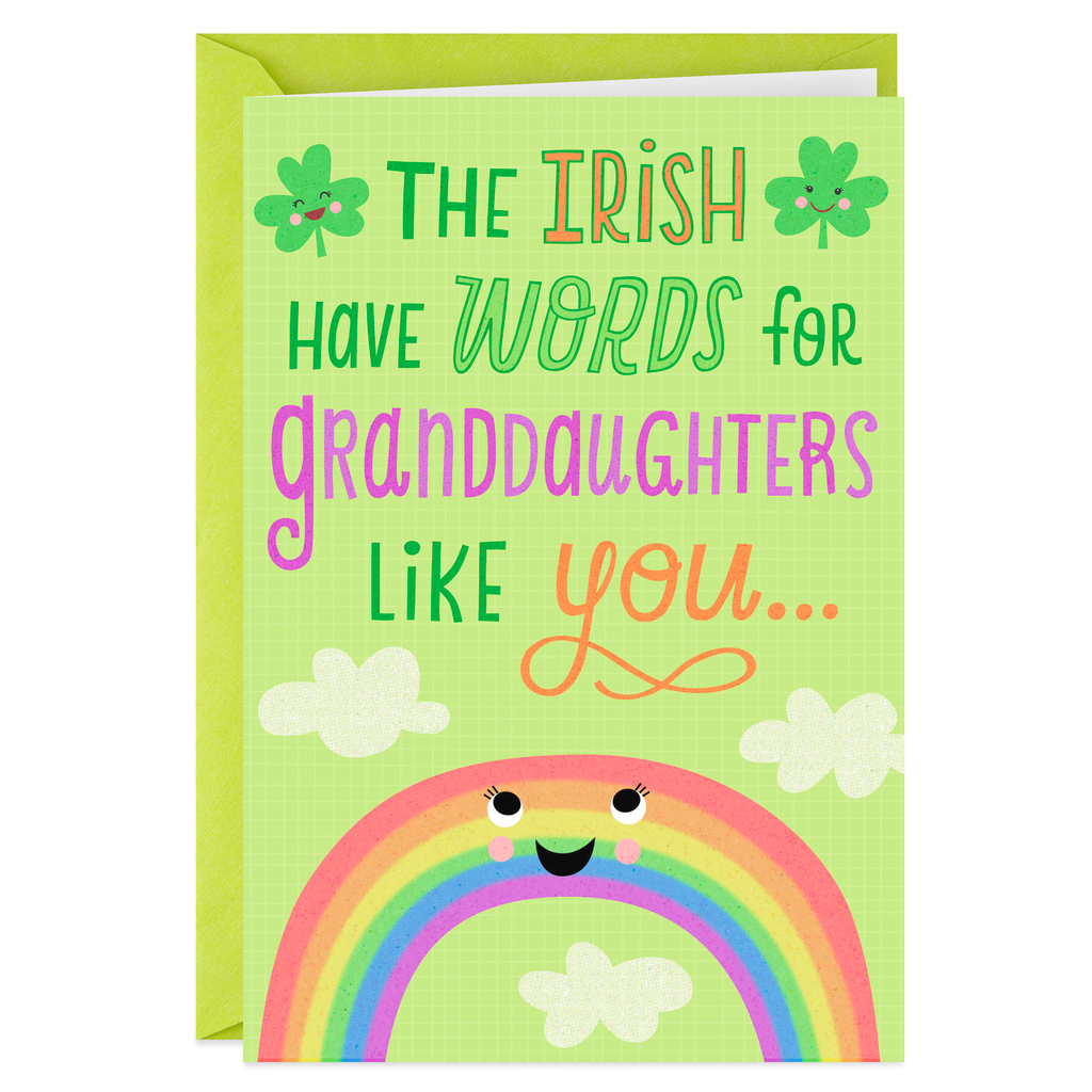 So Cute And Lovable St Patricks Day Card For Granddaughter