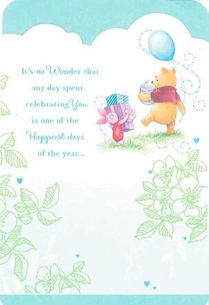 Winnie the Pooh Happiest Days Friend Birthday Card