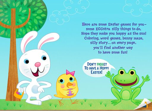 Fun and Games Kid's Activities Easter Card,