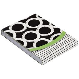 Black and White Circles Notepad, 75 Sheets, , large